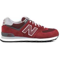 NEW BALANCE M 574 CORE SHOES BURGUNDY/GREY