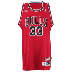 ADIDAS CHICAGO BULLS NBA SCOTTIE PIPPEN RED SOUL SWINGMAN HWC THROWBACK RETRO JERSEY RED