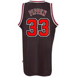 ADIDAS CHICAGO BULLS NBA SCOTTIE PIPPEN BLACK SOUL SWINGMAN HWC THROWBACK RETRO JERSEY BLACK