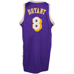 ADIDAS LOS ANGELES LAKERS NBA  KOBE BRYAN TTHROWBACK SWINGMAN JERSEY PURPLE
