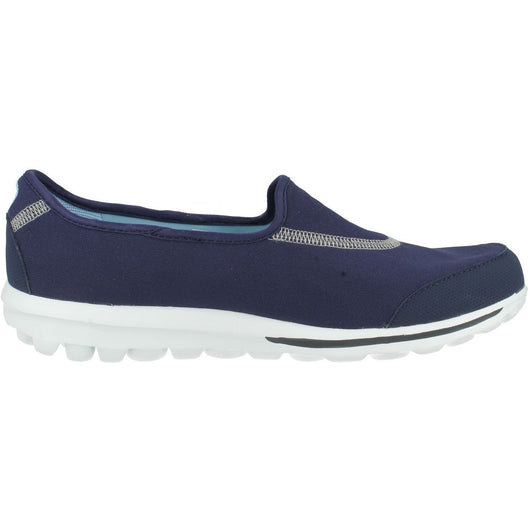 SKECHERS W GO WALK SLIP ON TRAINING SHOES NAVY/WHITE