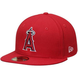 NEW ERA ANAHEIM ANGELS 59FIFTY MLB FITTED CAP RED