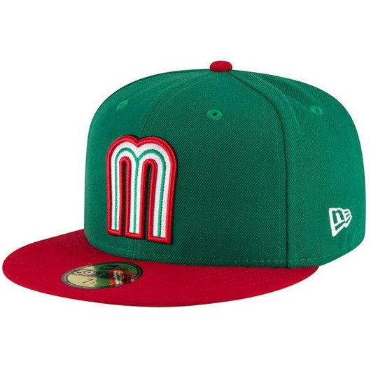 NEW ERA MEXICO 59FIFTY WORLD BASEBALL CLASSIC 2017 OFFICIAL ON FIELD FITTED CAP