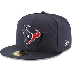 NEW ERA HOUSTON TEXANS 59FIFTY NFL ON FIELD FITTED CAP NAVY