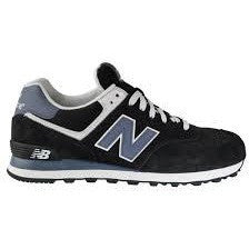 NEW BALANCE M 574 SHOES NAVY/STEEL