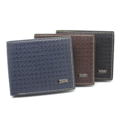 SSAMZIE Men's Textured Wallet