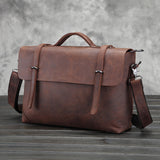 Genuine Leather Shoulder Briefcase