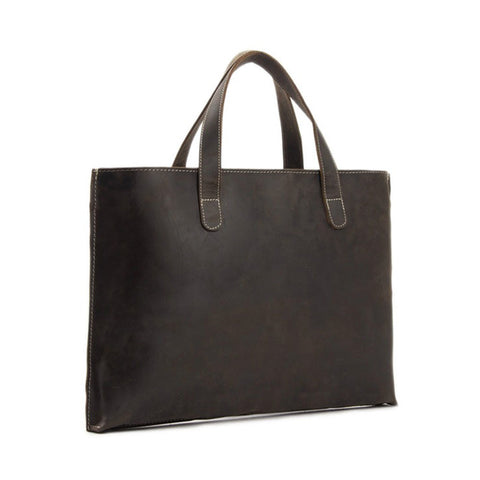 Dark Brown Laptop Tote