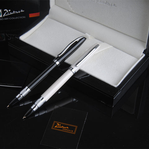 Picasso Black and Silver Clip Metal Fountain Pen