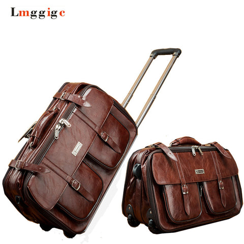 20'' PU Leather Vintage Luggage