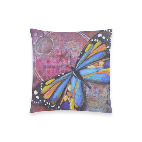 "Believe - Custom  Pillow Case 18""x18"" (one side) No Zipper"