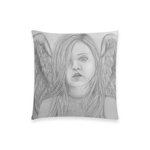 "Angel Eyes - Custom  Pillow Case 18""x18"" (one side) No Zipper"