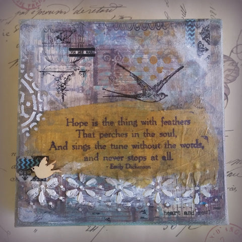 Hope - Original Mixed Media by Danita Lyn