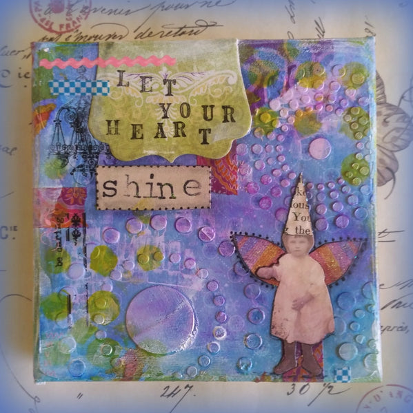 Let Your Heart Shine - Original Mixed Media by Danita Lyn