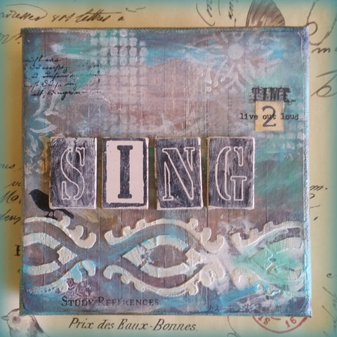 Time 2 SING- Original Mixed Media by Danita Lyn
