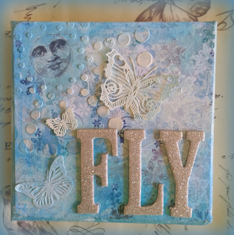 FLY- Original Mixed Media by Danita Lyn