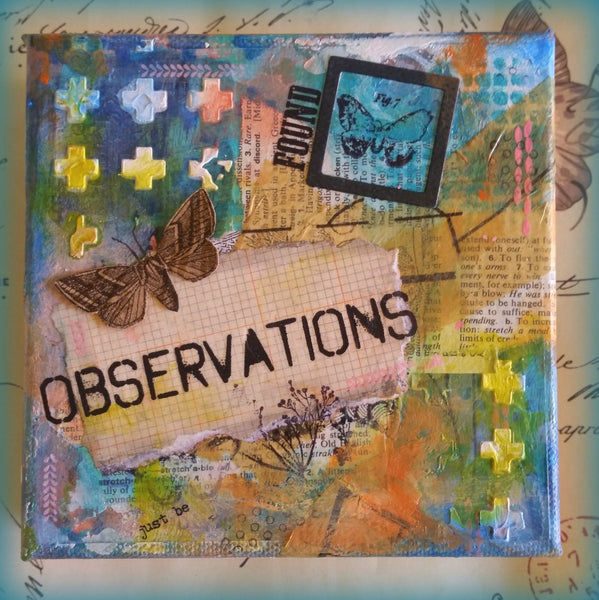 Observations - Original Mixed Media by Danita Lyn