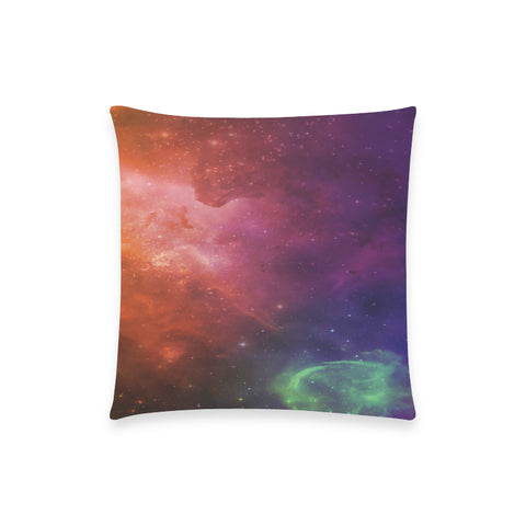 "Aurora Portal Nebula  - Custom  Pillow Case 18""x18"" (one side) No Zipper"