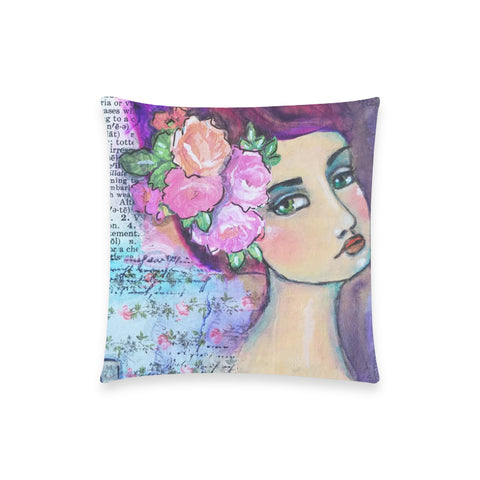 "Lydlene, Goddess of Gardens - Custom  Pillow Case 18""x18"" (one side) No Zipper"