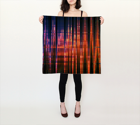Grid Persuasion - Square Scarf