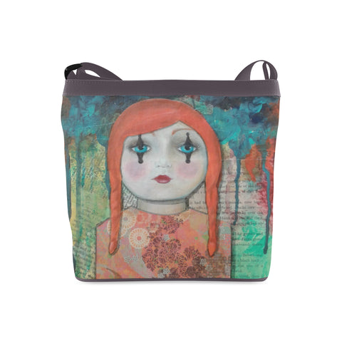 Clown Doll Crossbody Bags by Danita Lyn