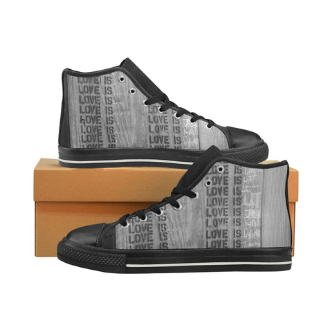 What is Love? High Top Canvas Shoes (for Men)