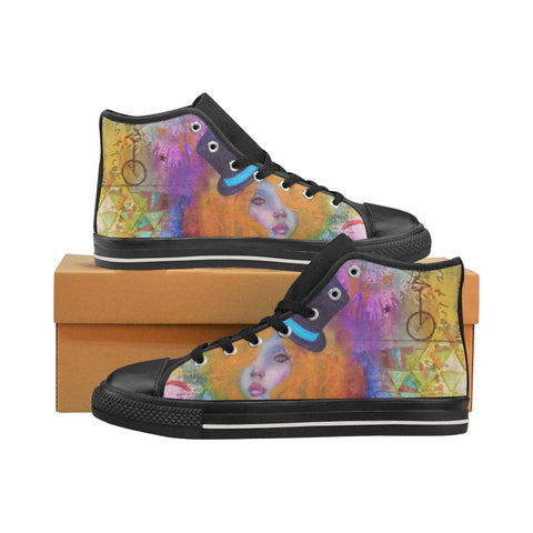 Life is a Circus High Top Canvas Shoes (for Women)