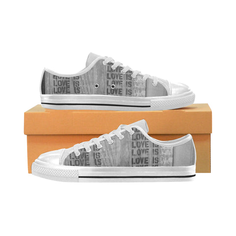 What is Love? Low Top Canvas Shoes (for Women)
