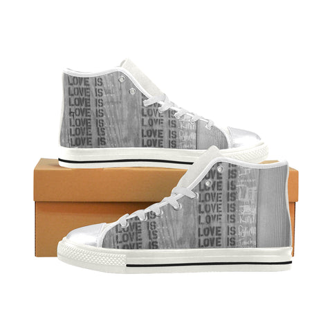 What is Love? High Top Canvas Shoes (for Women)