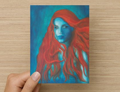 Blue Mermaid - Greeting Card