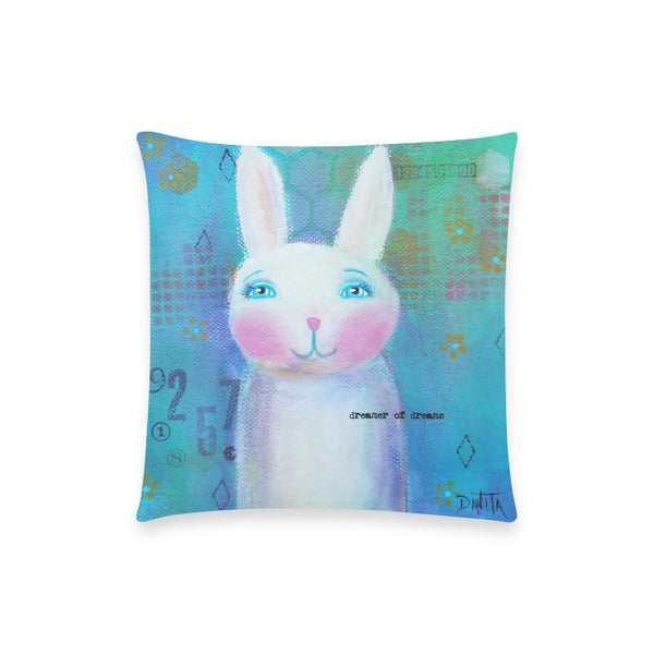 "Dreamer of Dreams - Custom  Pillow Case 18""x18"" (one side) No Zipper"