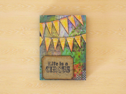 Circus Sparkle - 100 Page Notebook/Journal with Dot, Graph, and Hexagon Pages