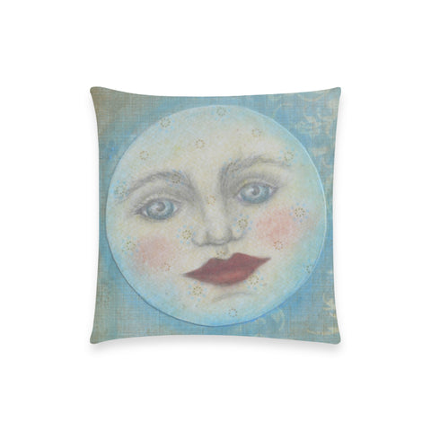 "To the Moon and Back Custom Pillow Case 18""x18"" (one side) No Zipper"