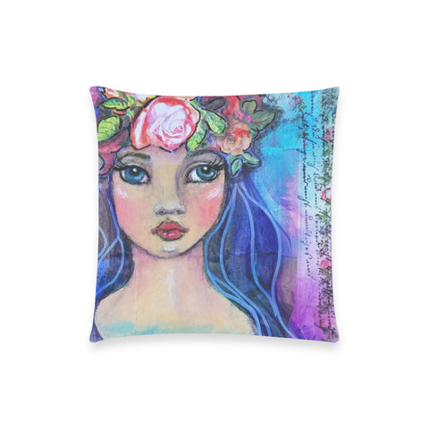 "Mykotl, Goddess of Spring - Custom Pillow Case 18""x18"" (one side) No Zipper"