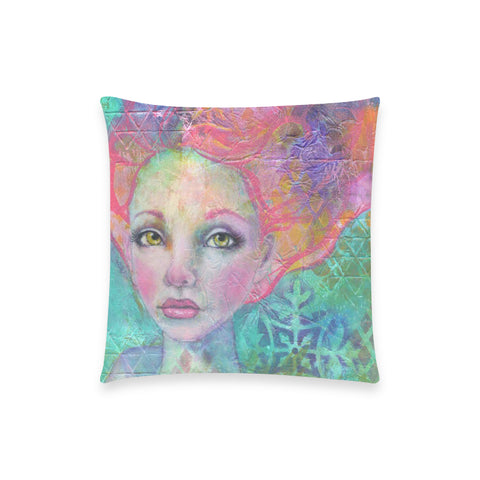 "Anahalia - Custom  Pillow Case 18""x18"" (one side) No Zipper"