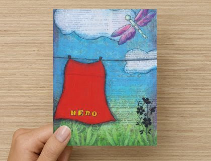 Hero - Greeting Card