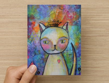 Kitty Queen - Greeting Card