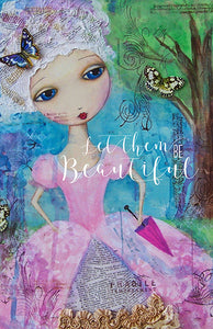 Let Them Be Beautiful - 100 Page Notebook/Journal with Dot, Graph, and Hexagon Pages