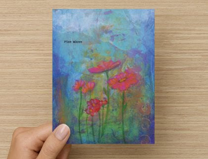 Rise Above - Greeting Card