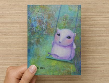 She is Brave - Greeting Card
