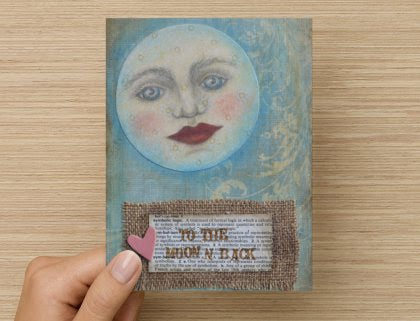 To The Moon - Greeting Card
