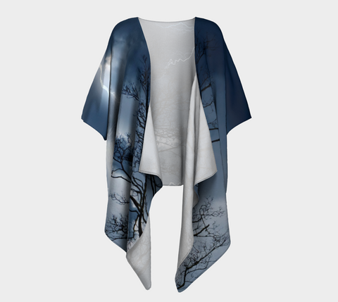 Electric Conversation - Draped Kimono