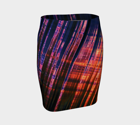 Grid Persuasion Fitted Skirt by Danita Lyn
