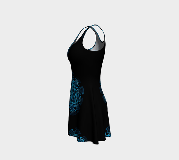 Blue Sound Flare Dress by Danita Lyn