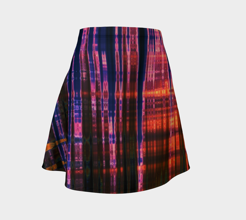 Grid Persuasion Flare Skirt by Danita Lyn