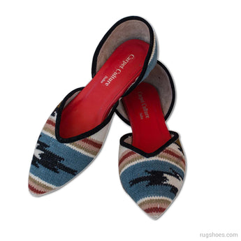 Manaba Flats -  Womens Slip-on Flats - Ballet Loafer - Wool Casual Shoes - Fashion Shoes for Women - Carpet Culture Soho