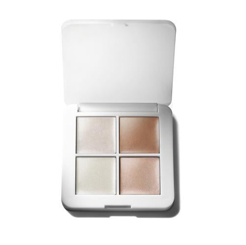 Load image into Gallery viewer,  All Natural Makeup RMS BEAUTY Luminizer Quad Highlighter Palette Illuminator Makeup