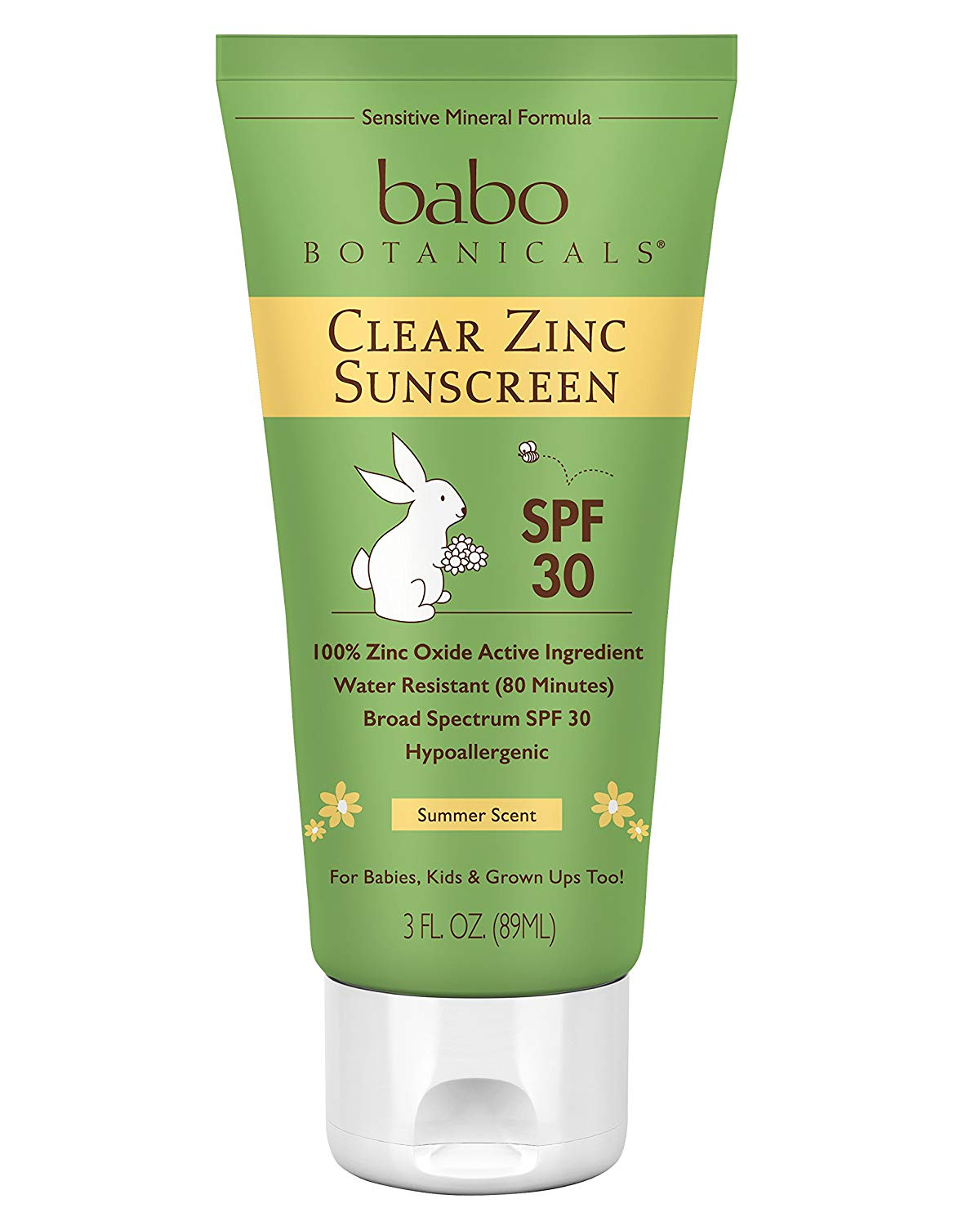 Babo Botanicals Clear Zinc Sunscreen Lotion SPF 30