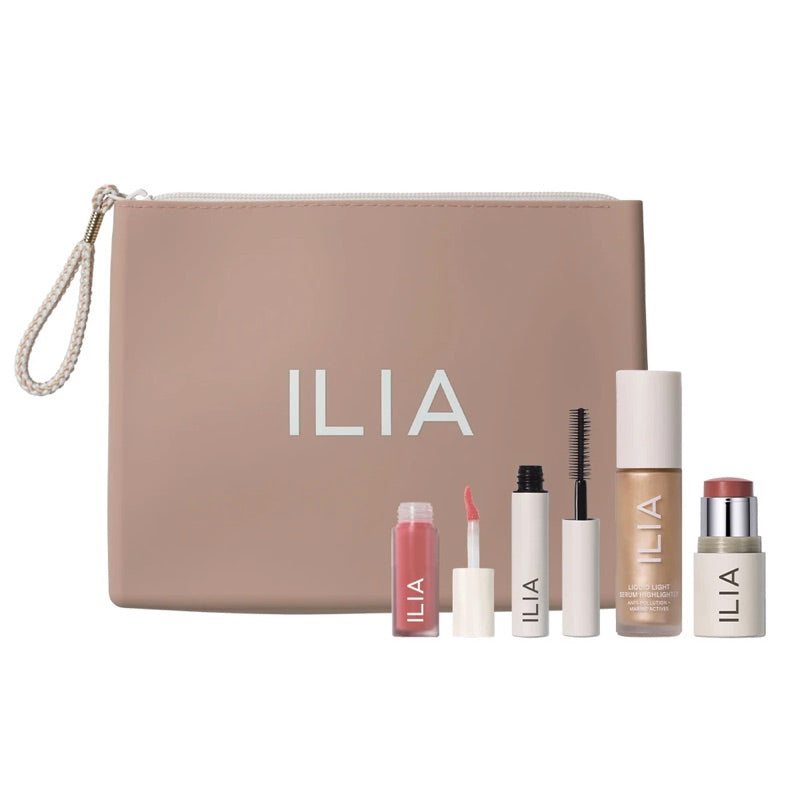 Ilia Beauty Hello Clean Makeup Gift Set Natural Makeup and Skincare