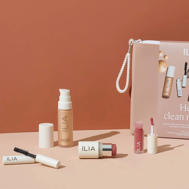 Ilia Beauty Hello Clean Makeup Gift Set Clean Beauty